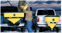 Tailgate Spreader by Fisher - sold and installed by Sarris Truck Equipment.