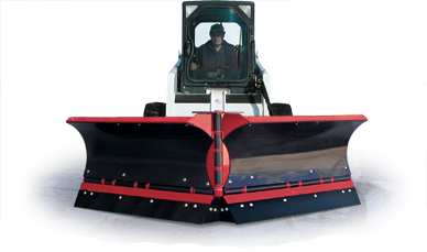 Skid Steer Plows by Hiniker, sold and installed by Sarris Truck Equipment, Waltham, MA